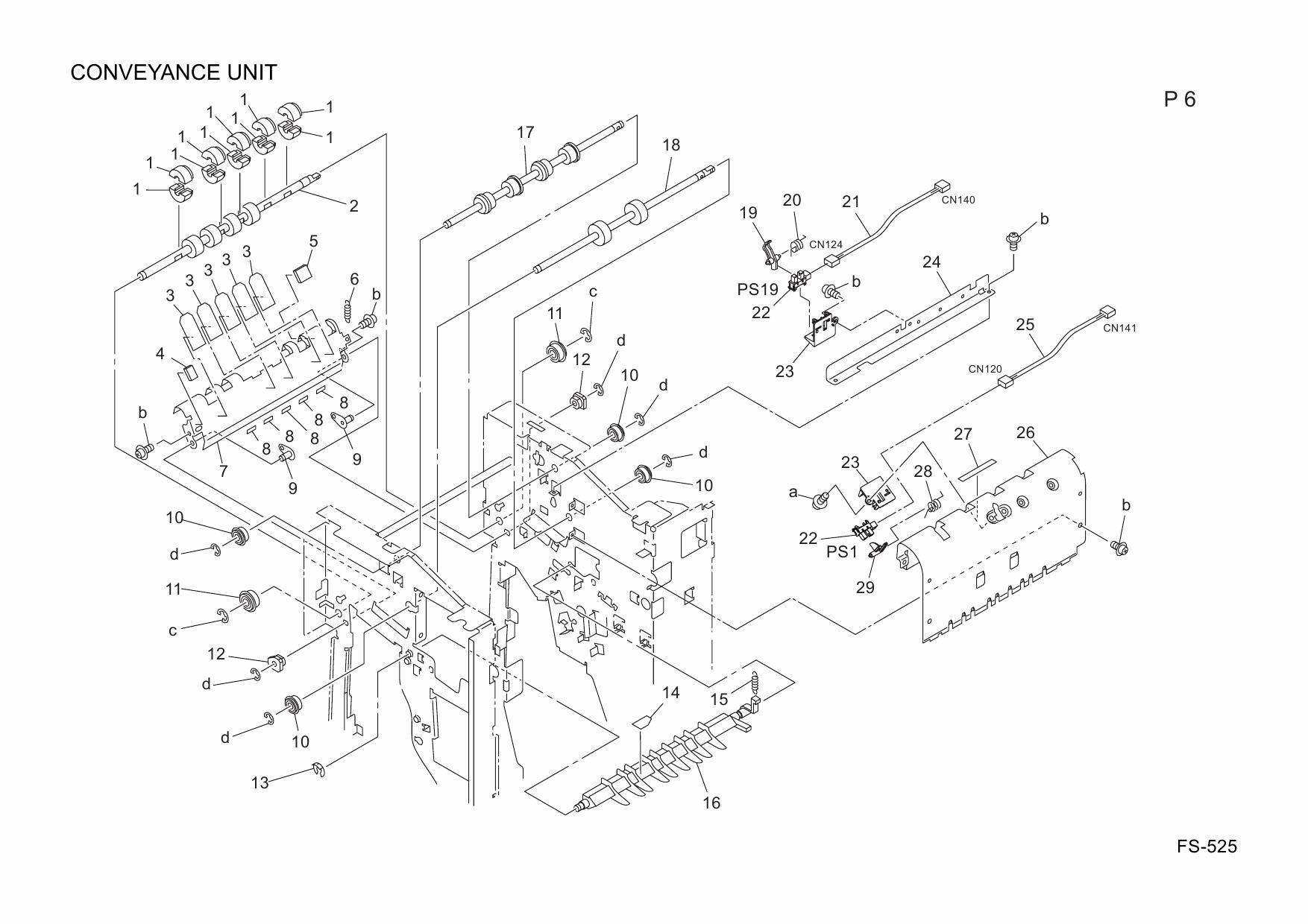 Konica-Minolta Options FS-525 A0R2 Parts Manual